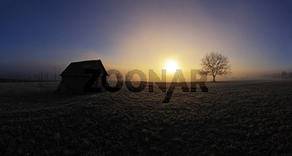 Morgenstimmung im Nebeldunst