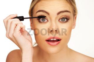 Closeup portrait of young beautiful girl