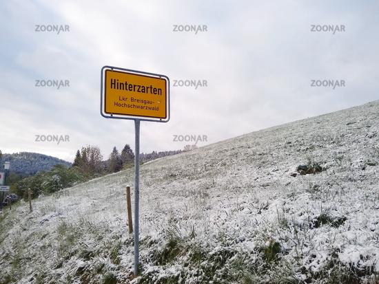 Wintereinbruch im Hochschwarzwald