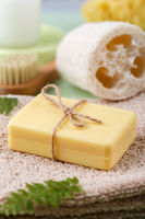 Hand made soap with olive and argan oil