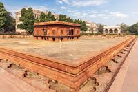 Red Fort of Delhi in India, famous Zafar Mahal building