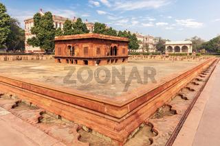 Red Fort of Delhi in India, famous Zafar Mahal building