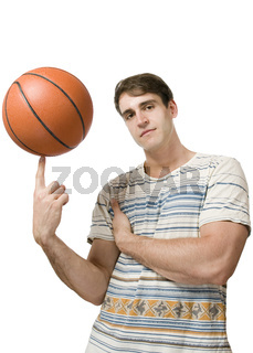 Basketball auf Zeigefinger