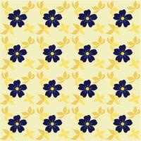 Flowers seamless pattern leaves