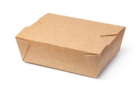 brown unlabeled paper food box