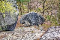 Bergsicherung Felsbrocken