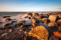 Steine an der Küste der Ostsee bei Heiligendamm