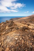 Scenic volcanic coastline landscape in el Hierro, Canary Islands, Spain.