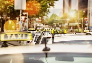 Taxistand in Frankfurt