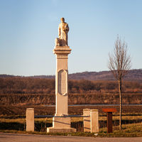 Column with saint marcus statue in burgenland