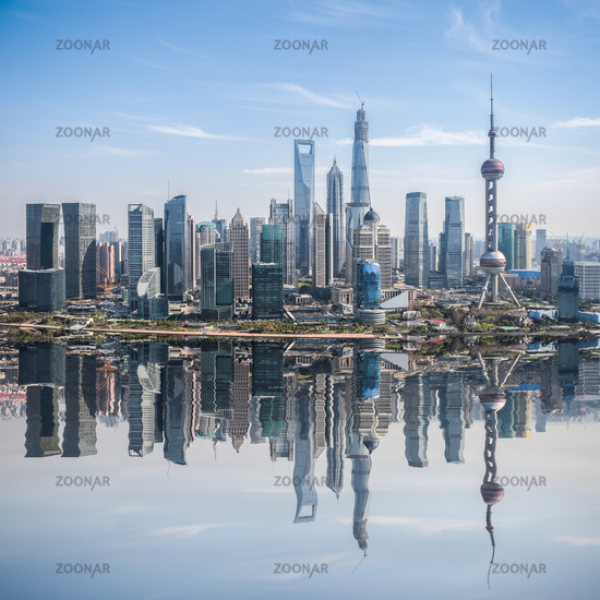 developed city in shanghai pudong