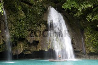The Kawasan Waterfalls in Badian on Cebu