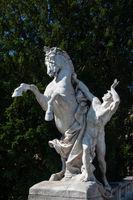Horse sculpture in center of Vienna