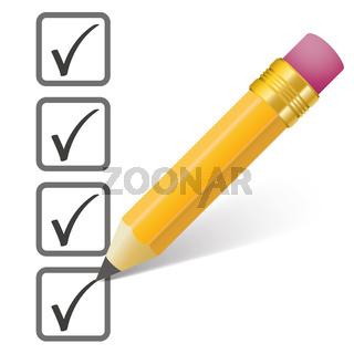 Pencil Checklist 4 Ticks