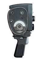 Isolated Vintage Super 8 Film Camera