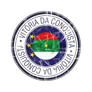 City of Vitoria da Conquista, Brazil vector stamp