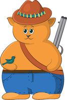 Cartoon Cat Hunter