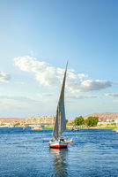 Sailboat riding on Nile