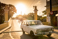 Vintage Car in Sancti Spiritus, Cuba, Latin America