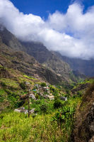 Paul Valley landscape in Santo Antao island, Cape Verde