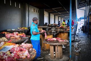 Fleischmarkt in Windhoek, Namibia | Meat market in Windhoek, Namibia