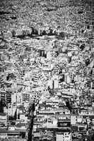 Residential area of Athens City in Greece