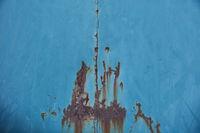 Altes blaues Metall mit Rost als Grunge Hintergrund Textur