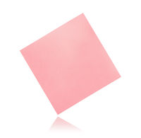 Flying blank pink sticky paper note