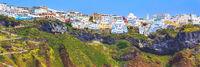 Fira panorama in Santorini island, Greece