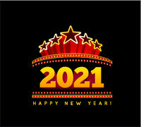 New Year marquee 2021. Vector illustration