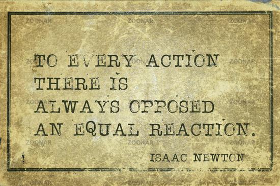 opposed reaction Newton