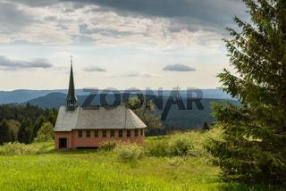 Die Kapelle St. Pius auf dem Kandel bei Freiburg, Schwarzwald, Baden-Württemberg, Deutschland