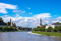 Blick auf die Stadt Salzburg in Österreich