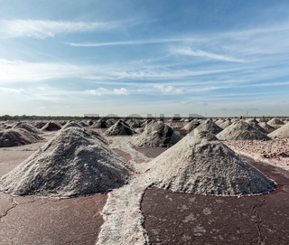 Salt mine at Sambhar Lake