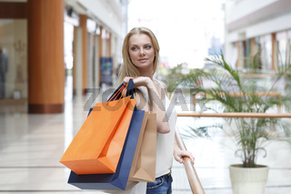 Shopping girl in mall