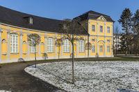 Blick im historischen Park in Gera, im Winter