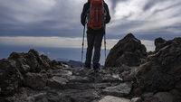 Hiker Mountain Path