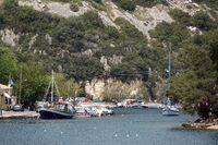 Boote bei Gaios auf Paxos