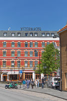 Hotel Victoria and architecture in the city of Stavanger in Norway