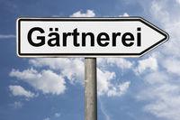 Wegweiser Gärtnerei | signpost Gärtnerei (Nursery)