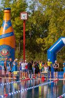 Ratingen/Deutschland/ Nordrhein-Westfalen -20.September: 12. Stadtwerke Ratingen Triathlon ein historischer Event