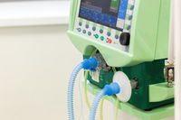 Display with buttons for operation of artificial lung ventilation