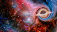 Black Hole Garagantua Interstellar. Elements of this image furnished by NASA