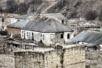 Dying mountain villages in winter