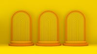 Three yellow orange podium frame 3D