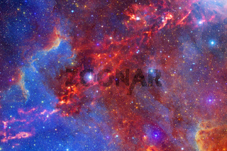 Starfield. Elements of this image furnished by NASA