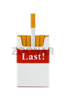 Last cigarette - stop smoking concept