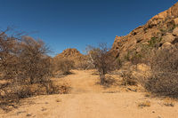dirt road in a beautiful landscape, Namibia