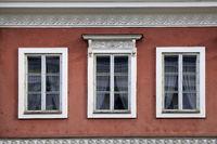 Three Windows on Red City Buiding