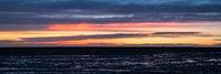 Sunset in Solheimasandur, Iceland